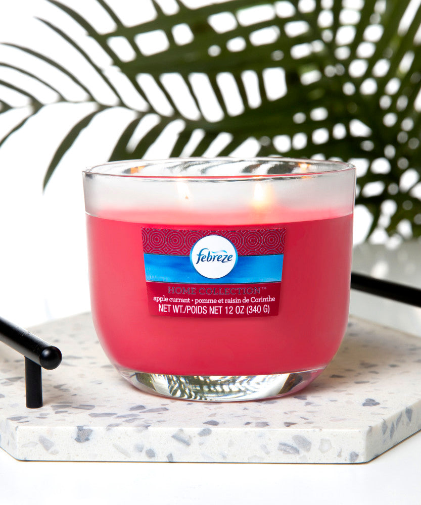 Febreze Home Collection Scented Jar Candle, Apple Currant, 12 oz, Single - Febreze Home Collection