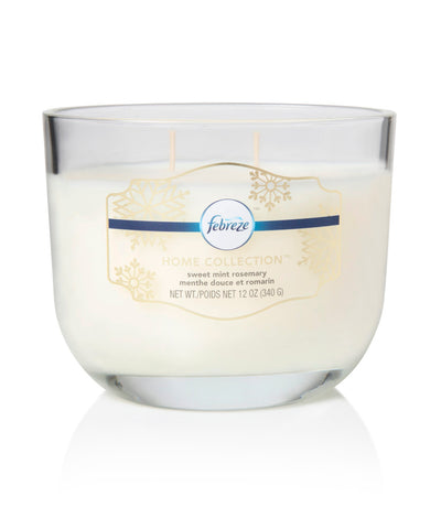 Febreze Home Collection Scented Jar Candle, Vanilla Sugarcane, 12 oz, Single