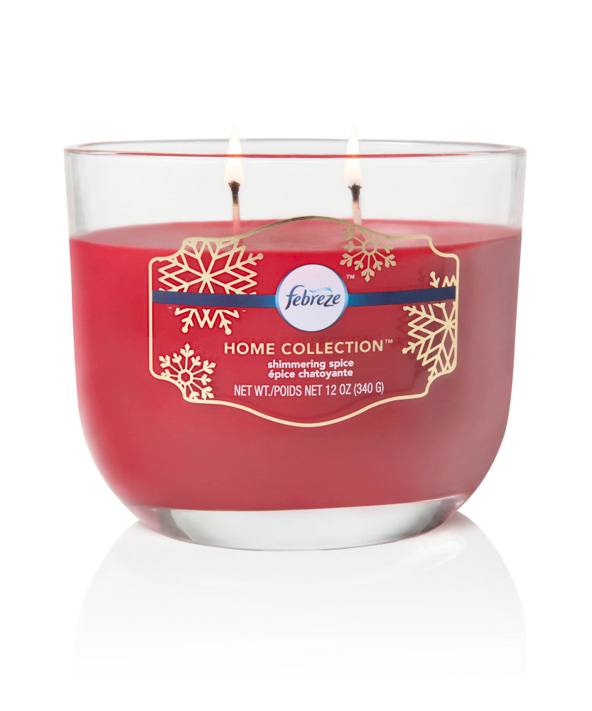 Febreze Home Collection Scented Jar Candle, Spiced, 12 oz, Single - Febreze Home Collection
