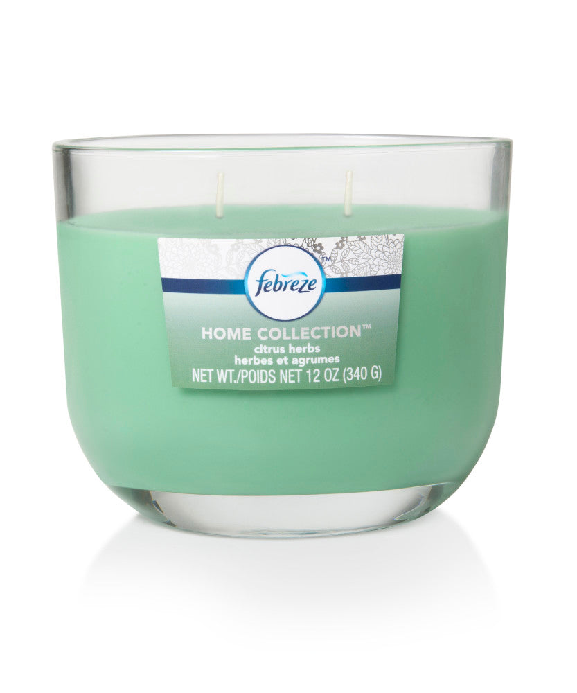 Febreze Home Collection Scented Jar Candle, Citrus Herbs, 12 oz, Single - Febreze Home Collection