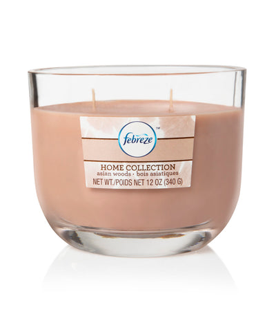 Febreze Home Collection Scented Jar Candle, Peach Cilantro, 12 oz, Single