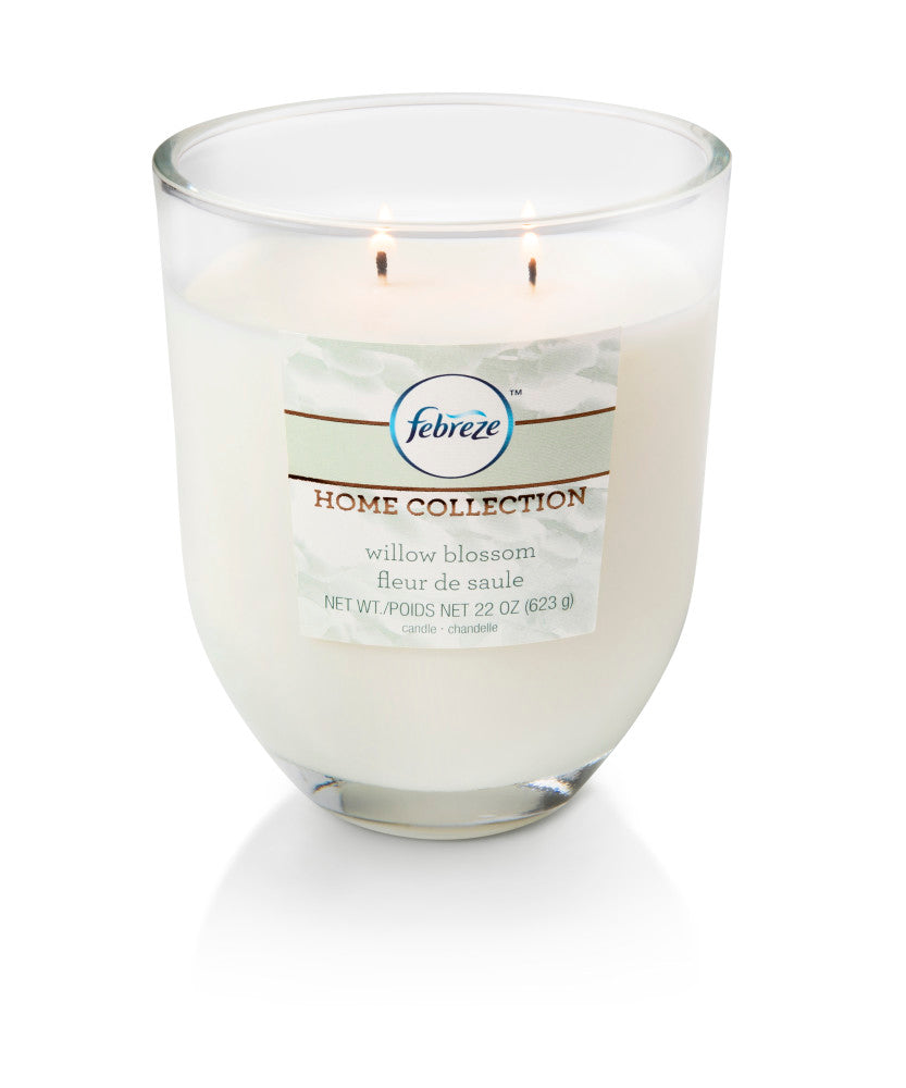 Febreze Home Collection Scented Jar Candle, Willow Blossom, 22 oz, Single - Febreze Home Collection
