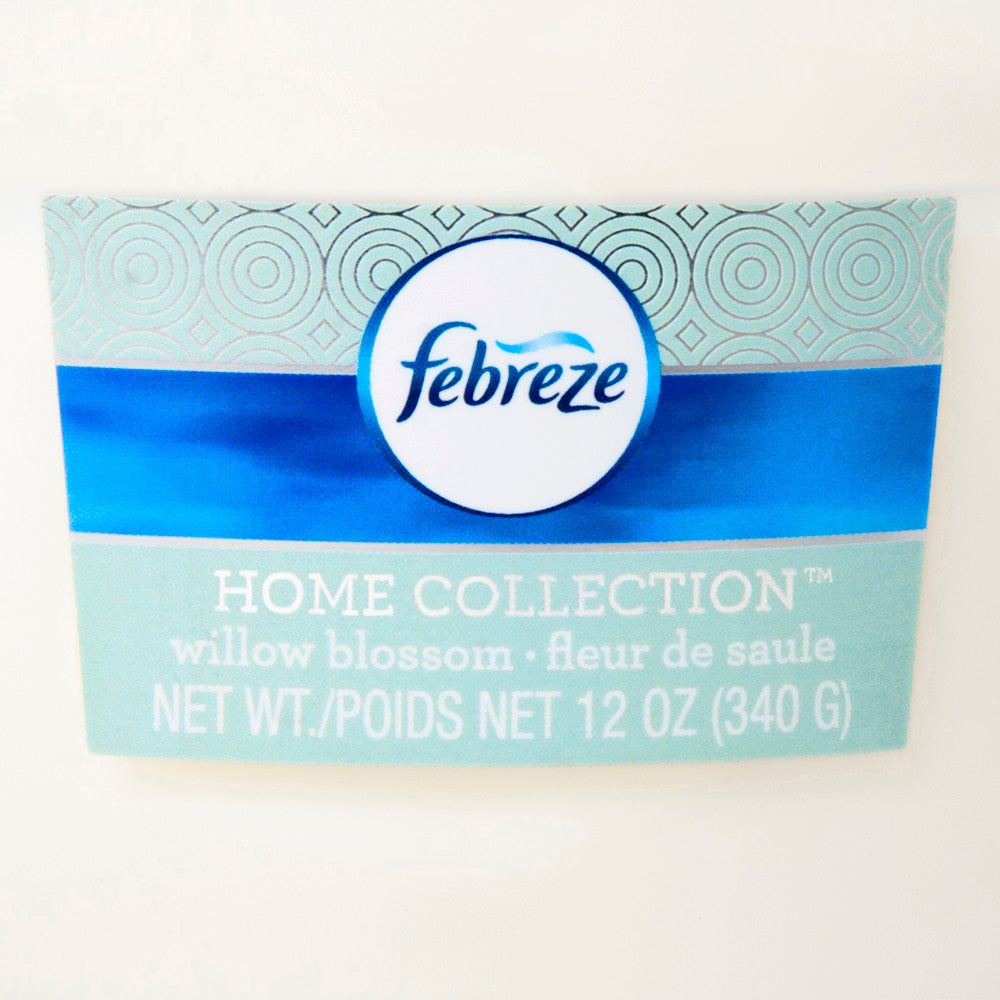 Febreze Home Collection Scented Jar Candle, Willow Blossom, 12 oz, Single - Febreze Home Collection