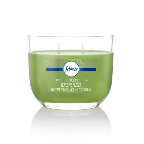 Febreze Home Collection Scented Jar Candle, Ambered Oud, 12 oz, Single
