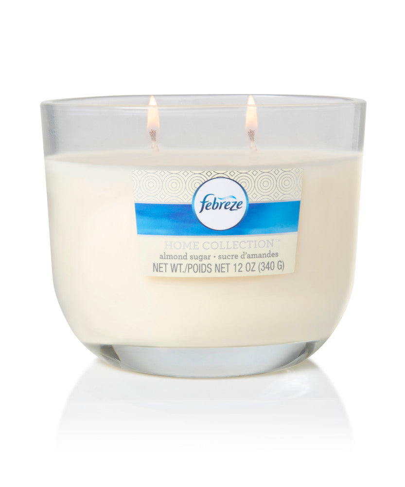Febreze Home Collection Scented Jar Candle, Almond Sugar, 12 oz, Single - Febreze Home Collection