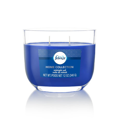 Febreze Home Collection Scented Jar Candle, Midnight Sail, 12 oz, Single - Febreze Home Collection
