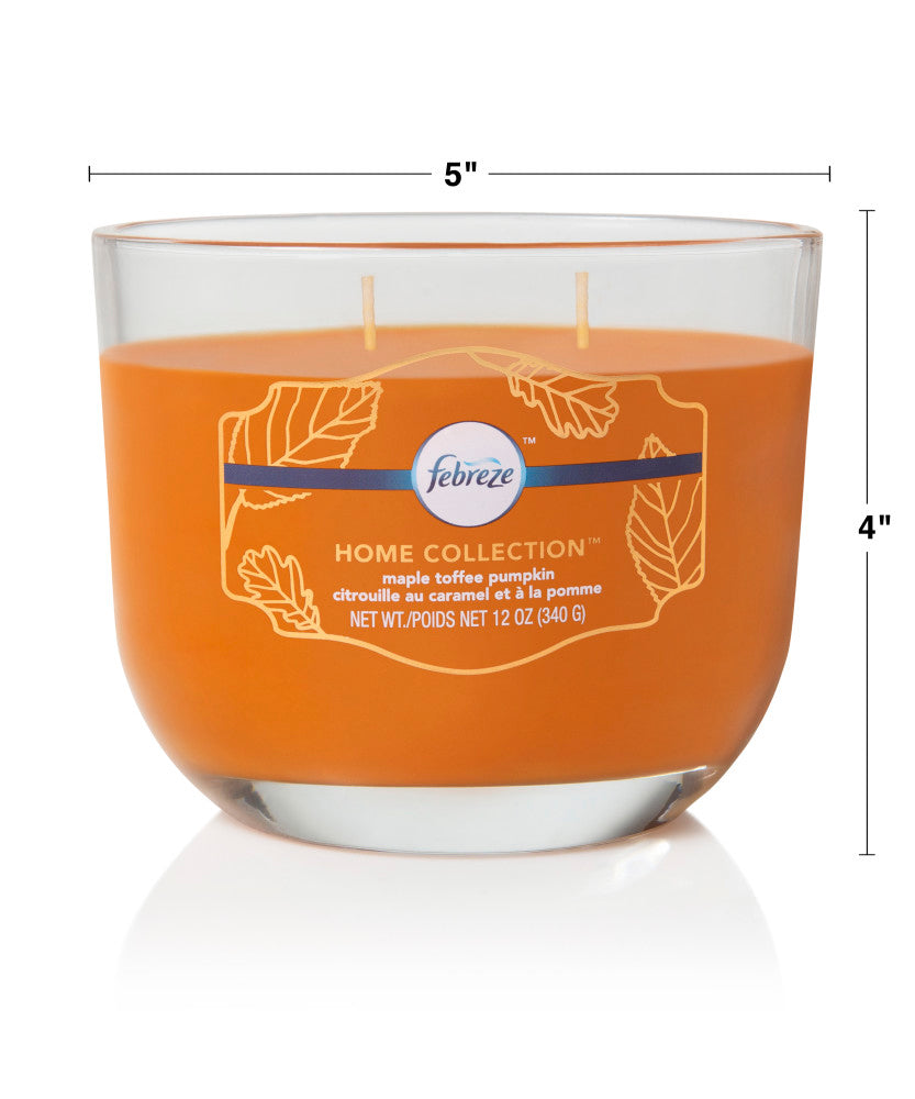 Febreze Home Collection Scented Jar Candle, Pumpkin Cupcake, 12 oz, Single - Febreze Home Collection