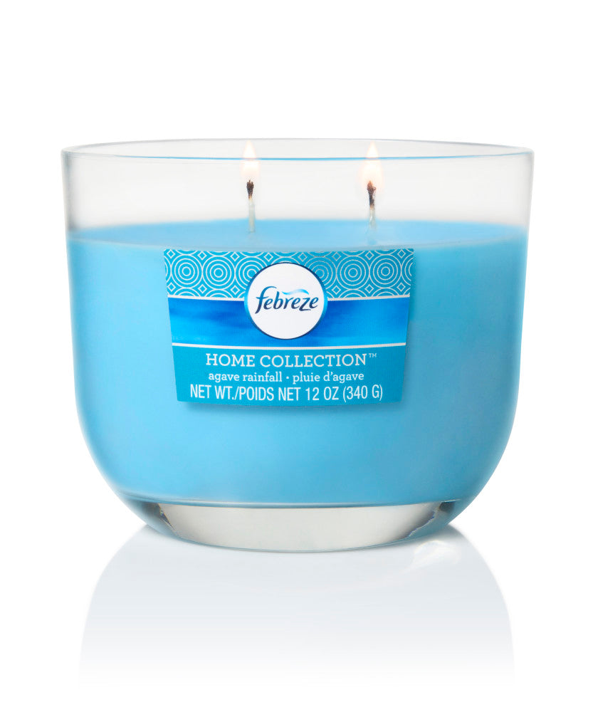 Febreze Home Collection Scented Jar Candle, Agave Rainfall, 12 oz, Single - Febreze Home Collection