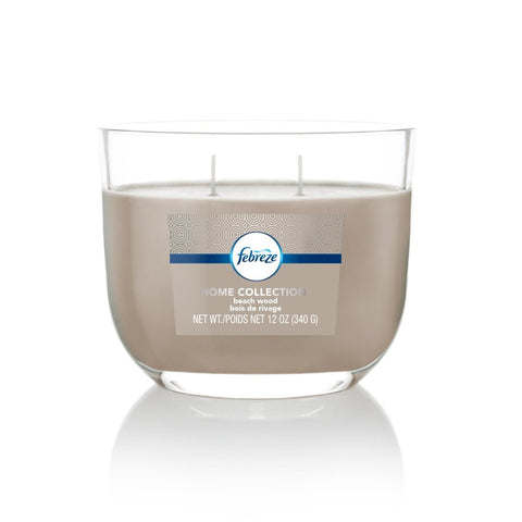 Febreze Home Collection Scented Jar Candle, Geranium Bamboo, 12 oz, Single