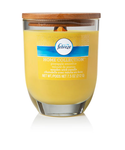 Febreze Home Collection Scented Jar Candle, Pineapple Smoothie, 7.5 oz, Single - Febreze Home Collection