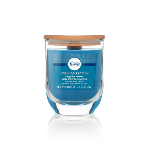 Febreze Home Collection Scented Jar Candle, Seagrass Breeze, 7.5 oz, Single - Febreze Home Collection