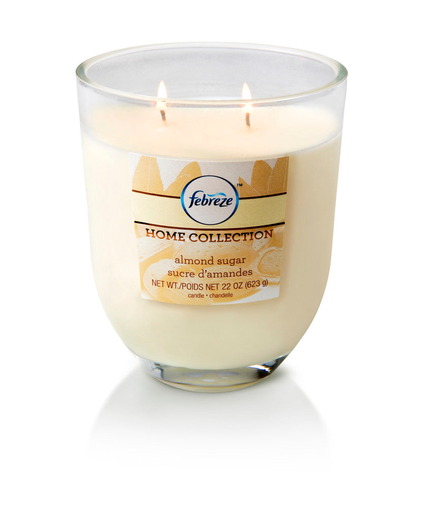 Febreze Home Collection Scented Jar Candle, Almond Sugar, 22 oz, Single - Febreze Home Collection