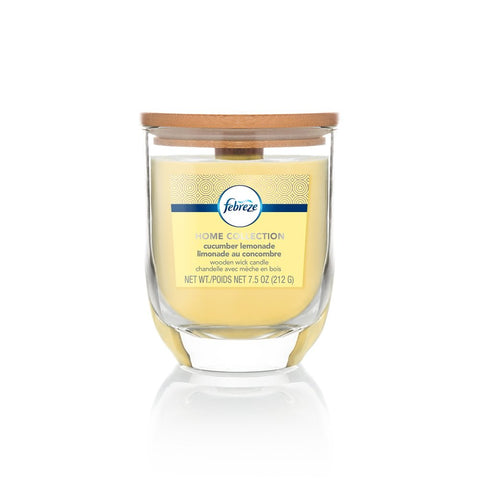 Febreze Home Collection Scented Jar Candle, Cucumber Lemonade, 7.5 oz, Single - Febreze Home Collection