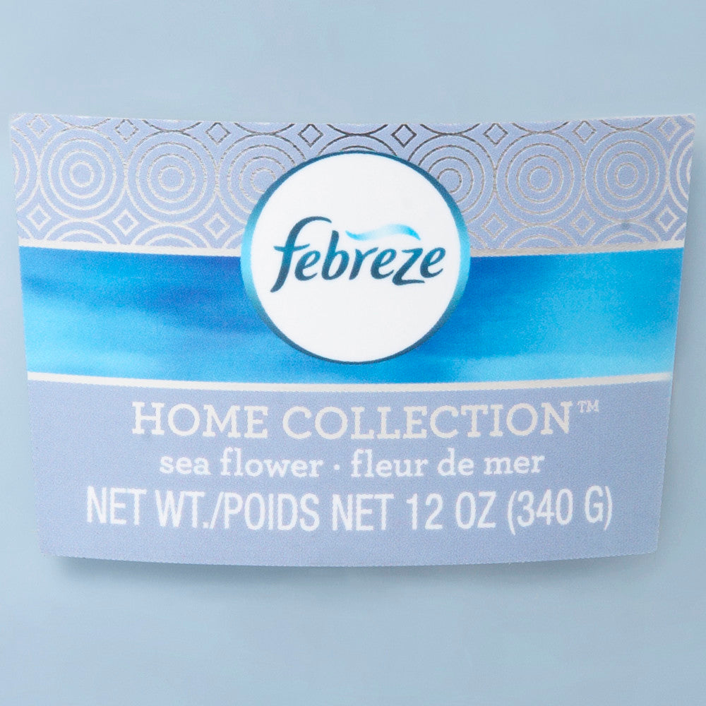 Febreze Home Collection Scented Jar Candle, Sea Flower, 12 oz, Single - Febreze Home Collection