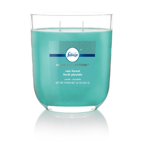 Febreze Home Collection Scented Jar Candle, Rainforest, 22 oz, Single - Febreze Home Collection