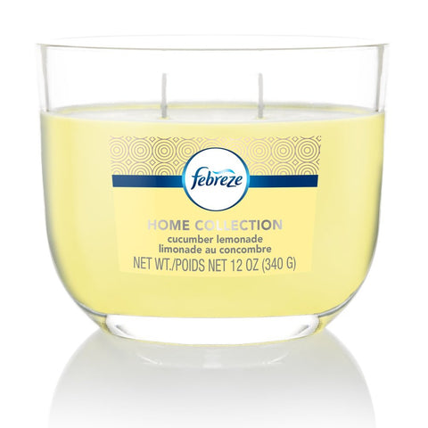 Febreze Home Collection Scented Jar Candle, Water Lily, 12 oz, Single