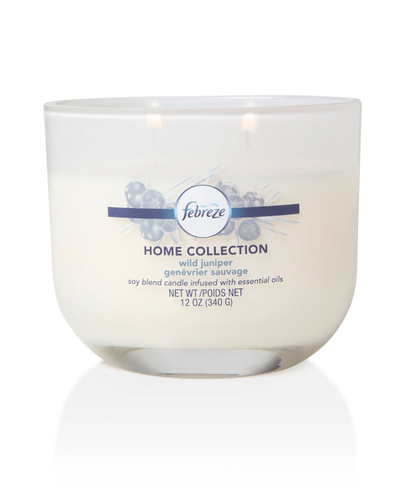 Febreze Home Collection Scented Jar Candle, Wild Juniper, 12 oz, Single - Febreze Home Collection
