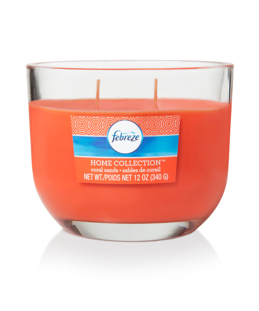 Febreze Home Collection Scented Jar Candle, Coral Sands, 12 oz, Single - Febreze Home Collection