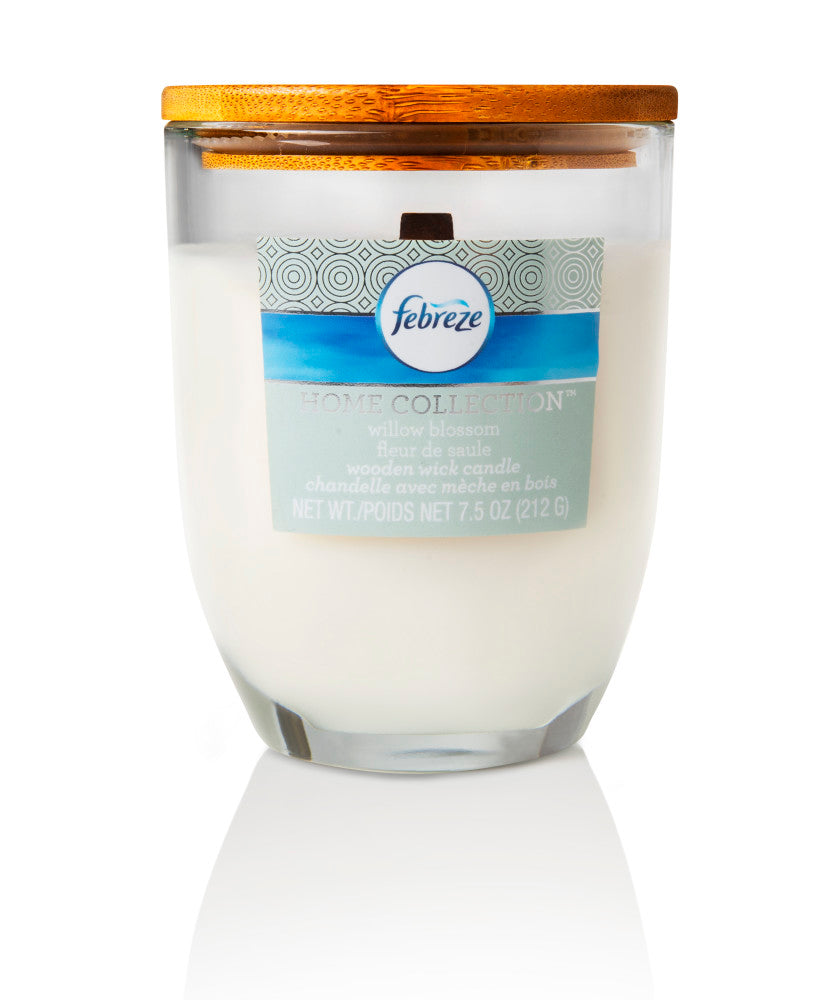 Febreze Home Collection Scented Jar Candle, Willow Blossom, 7.5 oz, Single - Febreze Home Collection