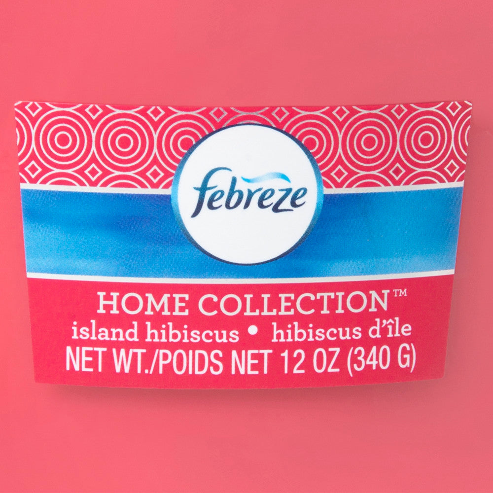 Febreze Home Collection Scented Jar Candle, Island Hibiscus, 12 oz, Single - Febreze Home Collection