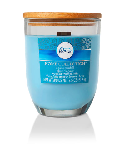 Febreze Home Collection Scented Jar Candle, Agave Rainfall, 7.5 oz, Single - Febreze Home Collection