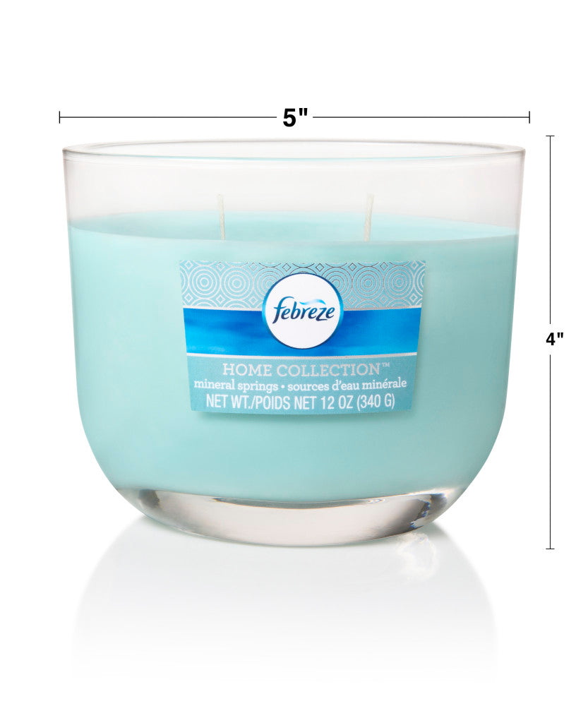 Febreze Home Collection Scented Jar Candle, Mineral Springs, 12 oz, Single - Febreze Home Collection