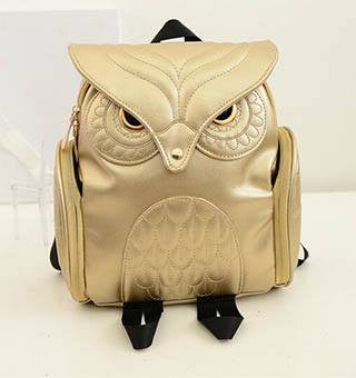 Faux Leather Owl Backpack