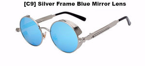 Silver and Blue Steampunk Sunglasses