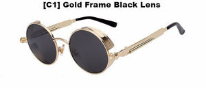 Gold and Black Steampunk Sunglasses
