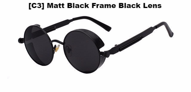 Matt Black and Black Steampunk Sunglasses