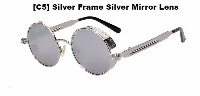 Silver and Silver Steampunk Sunglasses