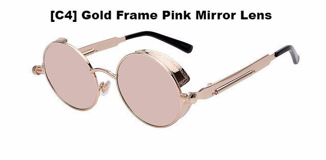 Gold and Pink Steampunk Sunglasses