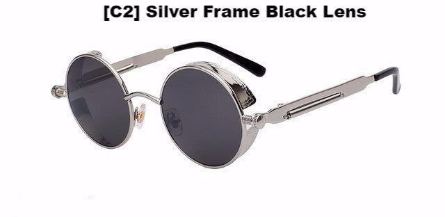 Silver and Black Steampunk Sunglasses