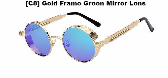 Gold and Green Steampunk Sunglasses