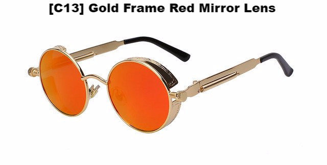Gold and Orange Steampunk Sunglasses