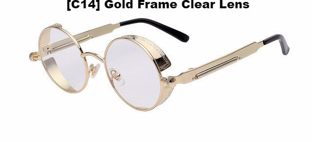 Gold and Clear Steampunk Glasses