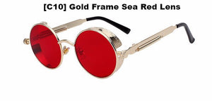 Gold and Red Steampunk Sunglasses