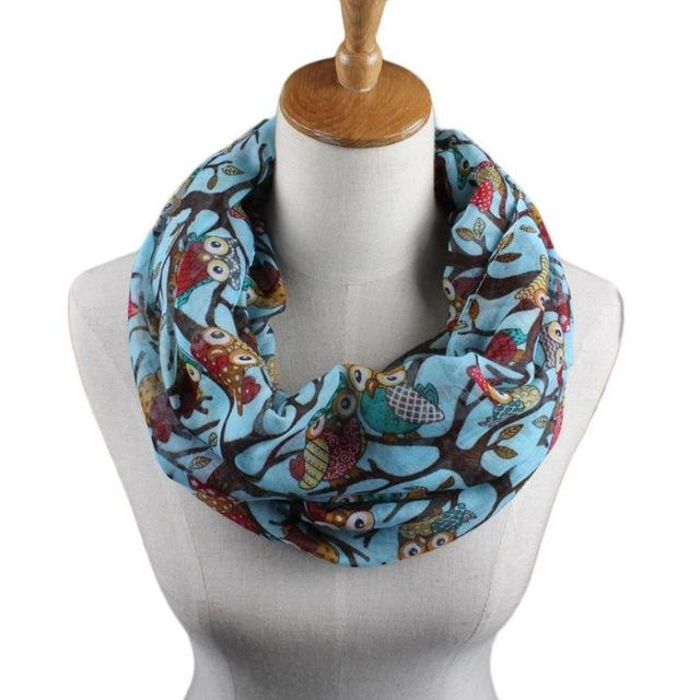 Ladies Owl Print Scarf