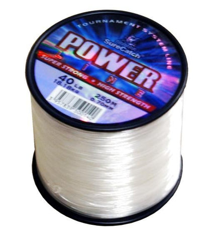 4oz Spool Surecatch Power Line Clear Mono