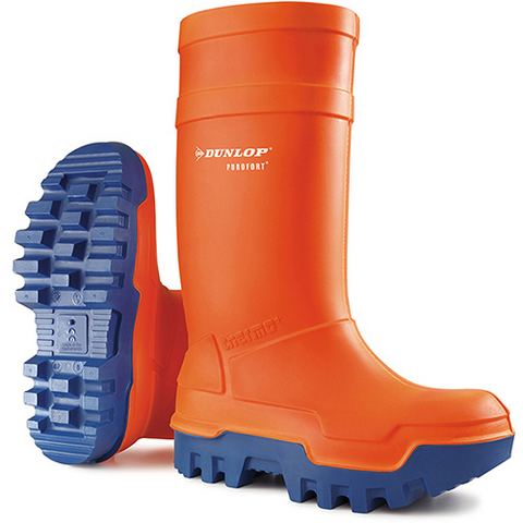 Dunlop Thermo Plus Safety Wellington Orange