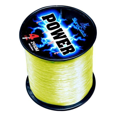 4oz Spool Surecatch Power Line Yellow Mono