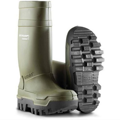 Dunlop Thermo Plus Safety Wellington Green