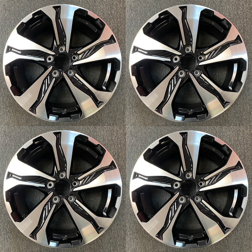 "Set of 4 New 17"" Machined Black Wheels for 2017-2020 Honda CRV CR-V OEM Quality Alloy Rim 64110"