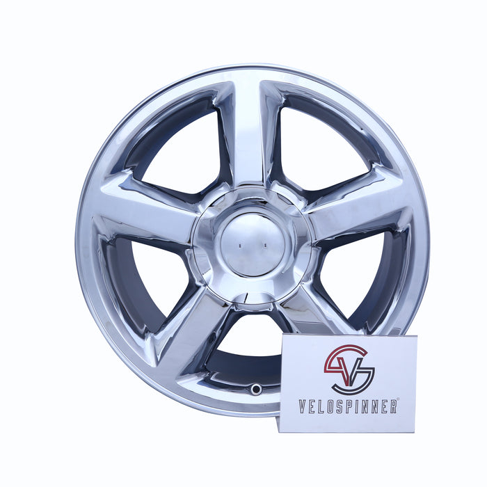 "Single 20"" Chrome Wheel For 2007-2009 Chevy Silverado Suburban Tahoe OEM Qualily Rim 5308"