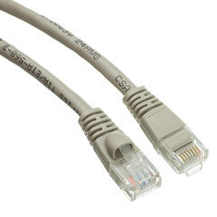 Cable -- Cat5E Gray Ethernet Patch Cable, Snagless/Molded Boot, 6ft