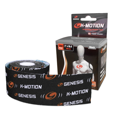 Genesis K-Motion Kinesiology Tape with Copper Infuzion - Uncut Rolls