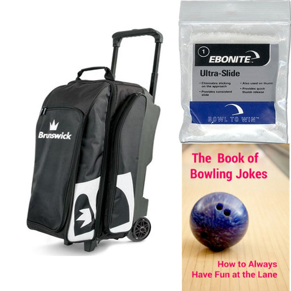 Brunswick Blitz Triple Roller Black Bowling Bag