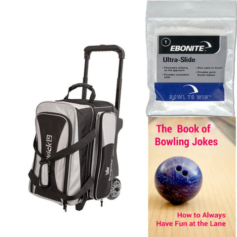 Brunswick Crown Double Roller Silver Bowling Bag