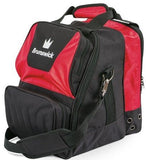 Bowling Bags - Brunswick Crown Single Tote Red + 2 Free Gifts