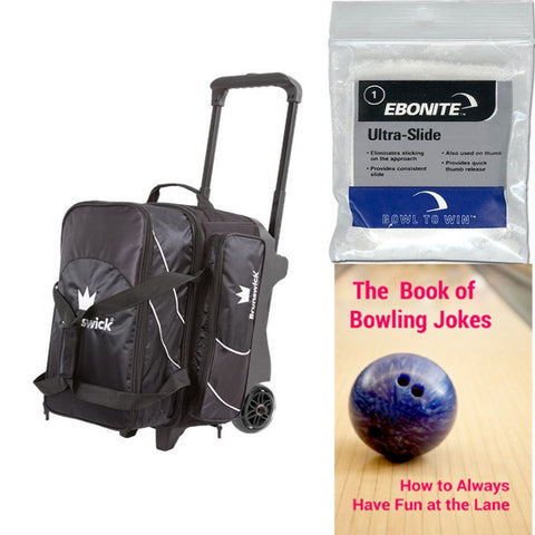 Brunswick Edge Double Roller Black Bowling Bag